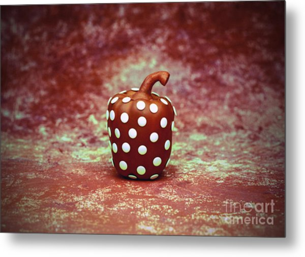 Freckled Bell Pepper Metal Print