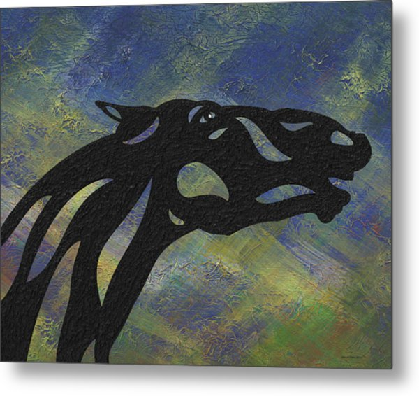 Fred - Abstract Horse Metal Print