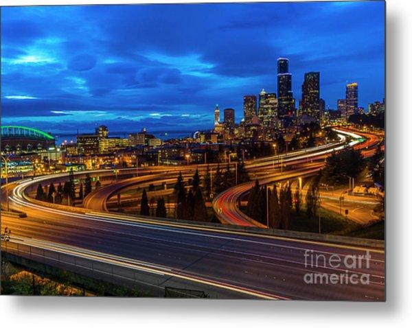 Freeway 5 North To Seattle Metal Print
