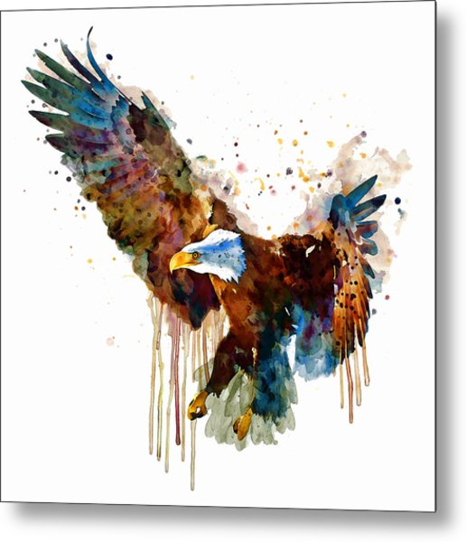 Free And Deadly Eagle Metal Print
