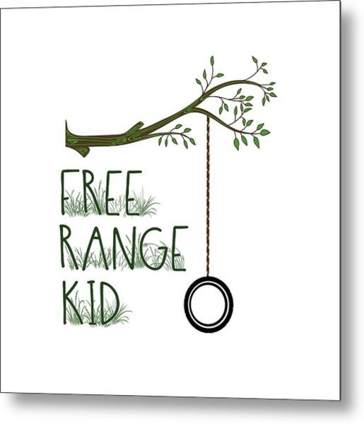 Free Range Kid Metal Print