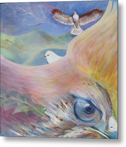 Freedom And Fear Metal Print by Claudia Dose