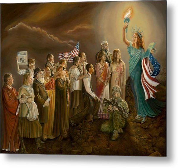 Freedom-liberty Lighting Our Way Metal Print