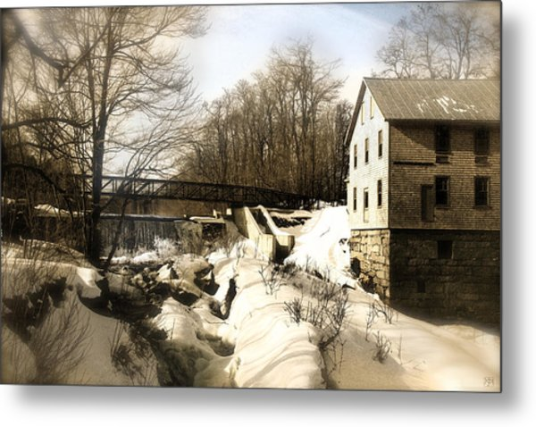 Freedom Mill Stream Metal Print