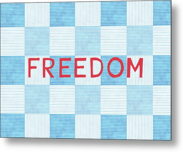Freedom Patchwork Metal Print