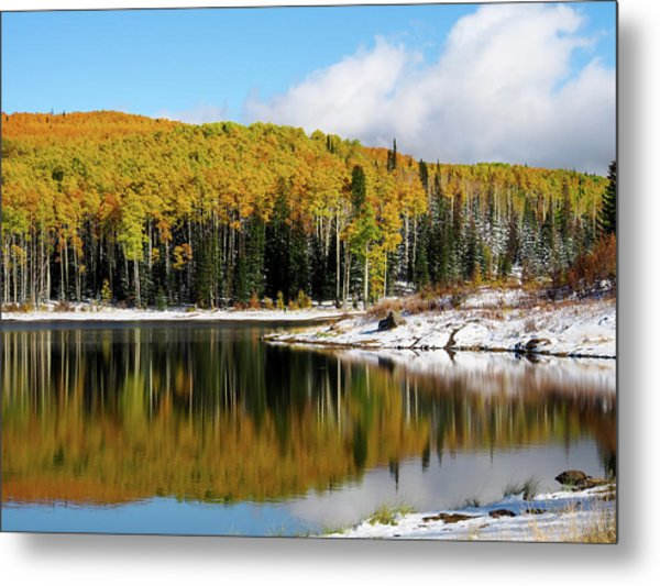 Metal Print featuring the photograph Freeman Lake In Northwest Colorado In The Fall by Nadja Rider