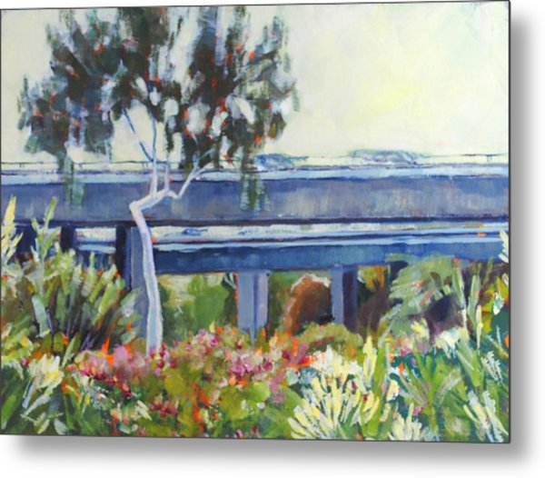 Freeway In The Garden Metal Print