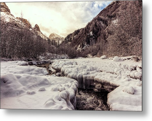 Metal Print featuring the photograph Freeze-up by Fred Denner