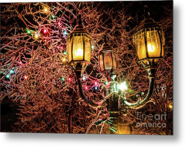 Christmas Lamp Metal Print