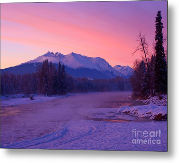 Freezing Under The Glow Metal Print