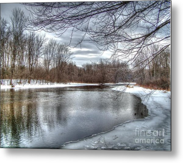 Freezing Up Metal Print