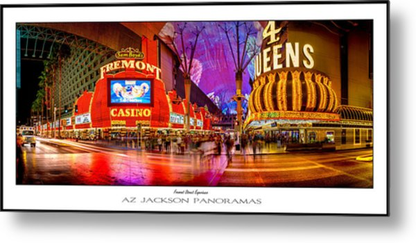Fremont Street Experience Poster Print Metal Print