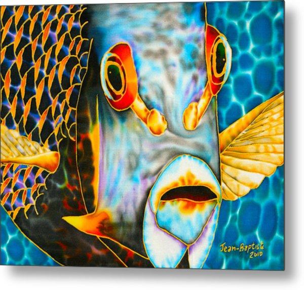 French Angelfish Face Metal Print