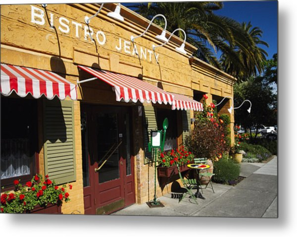 French Bistro Metal Print by George Oze