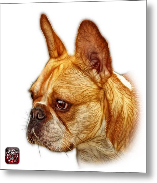 Metal Print featuring the painting French Bulldog Pop Art - 0755 Wb by James Ahn