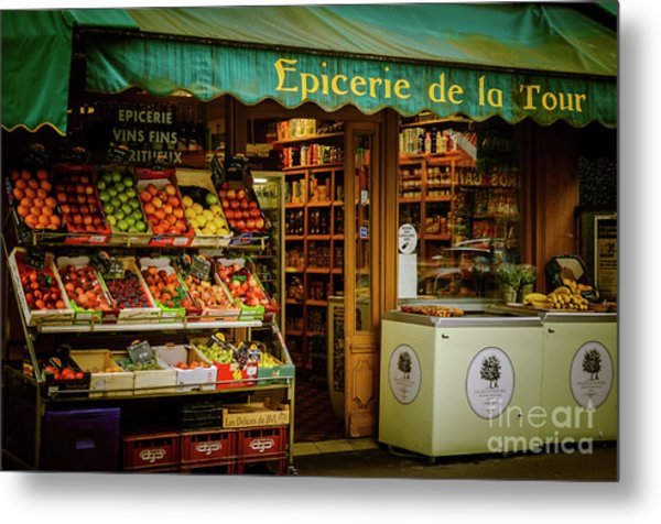 French Groceries Metal Print