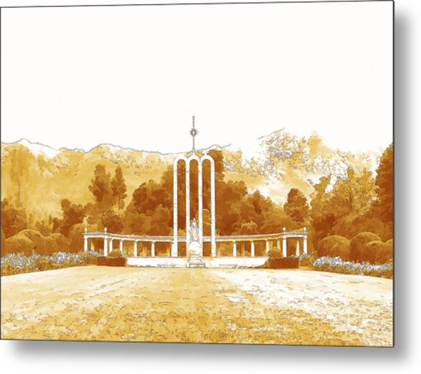 French Huguenot Monument In Franschhoek  Metal Print by Jan Hattingh