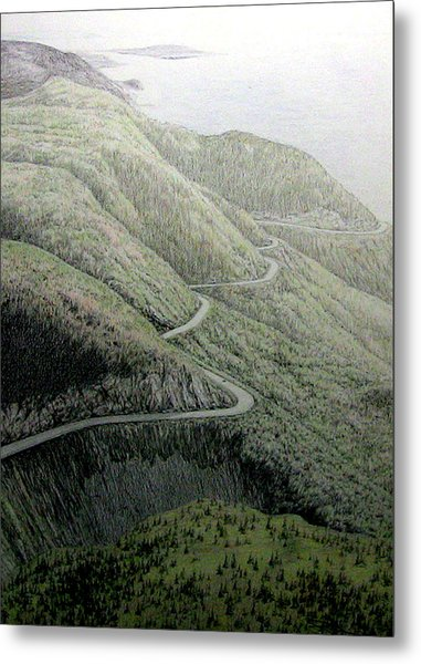 French Mountain At 400 Metres Metal Print by Roger Beaudry