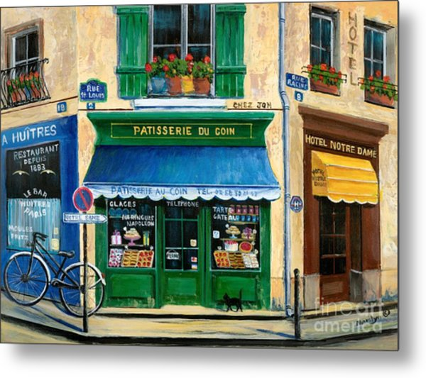 French Pastry Shop Metal Print