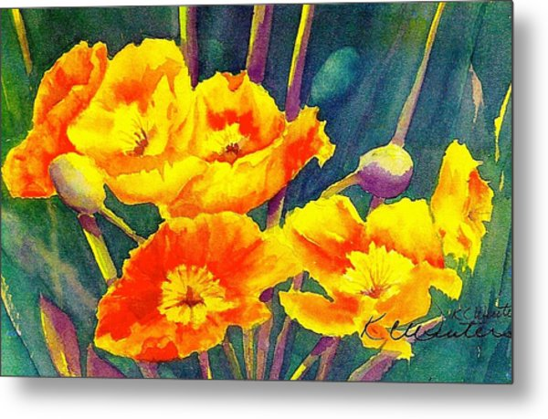 French Poppies Metal Print by KC Winters