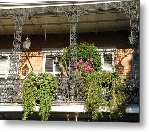 French Quarter Balcony Metal Print by Jack Herrington
