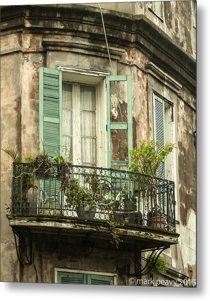 French Quarter Balcony Metal Print