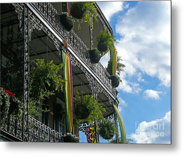 French Quarter Iron Work Metal Print