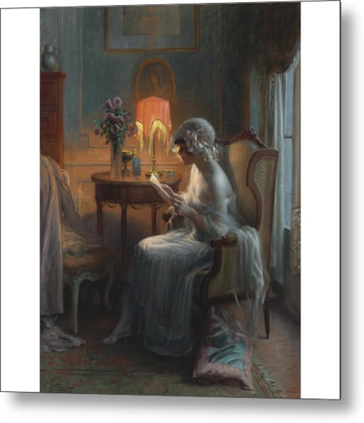 French Reading A Letter Metal Print