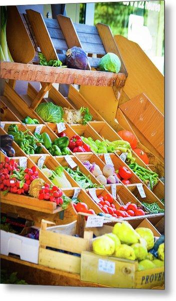 French Vegetable Market 2 Metal Print