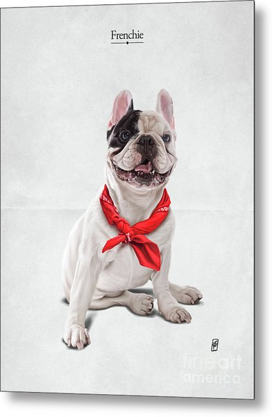 Metal Print featuring the digital art Frenchie by Rob Snow