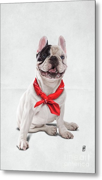 Metal Print featuring the digital art Frenchie Wordless by Rob Snow