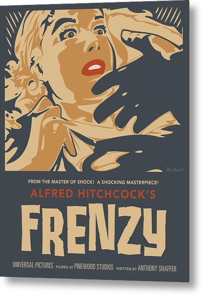 Frenzy - Thriller Noir Metal Print by Bill ONeil