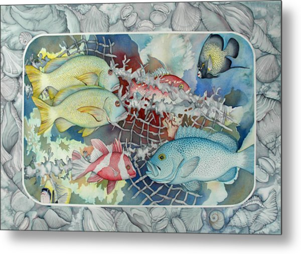 Fresh Catch Metal Print by Liduine Bekman