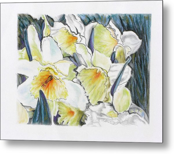 Fresh Faces Metal Print by Carole Haslock