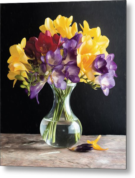 Fresh Freesias Metal Print