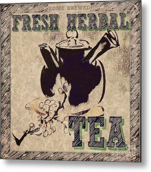 Fresh Herbal Tea Metal Print