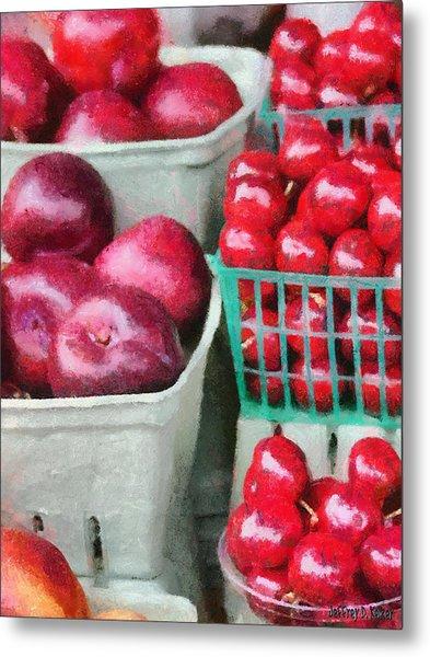 Fresh Market Fruit Metal Print