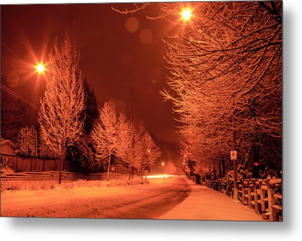 Fresh Morning Snow Metal Print