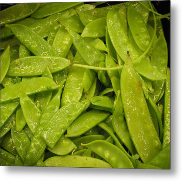 Fresh Peas Metal Print by Laurie With