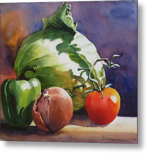 Fresh Vegetables Metal Print by Sue Zimmermann