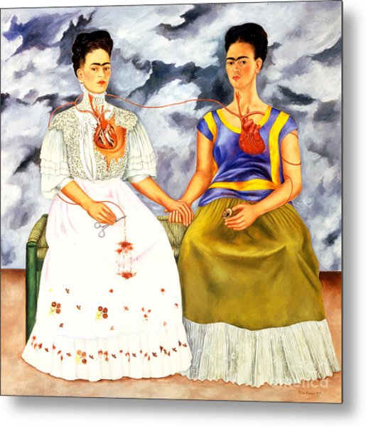 Frida Kahlo The Two Fridas Metal Print