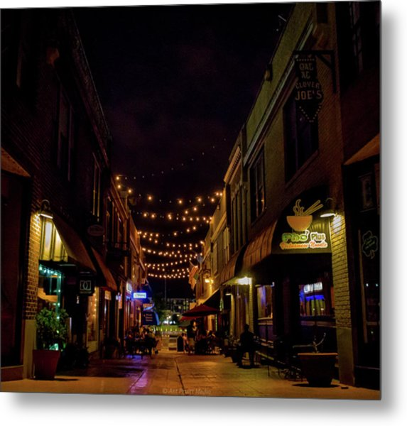 Friday Night Alley Metal Print