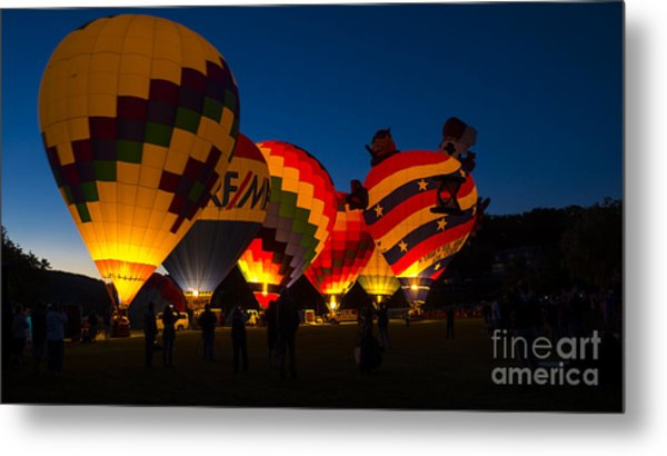 Friday Night At The Quechee Balloon Festival Metal Print
