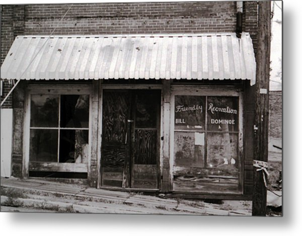 Friendly Recreation- Utica Mississippi Metal Print