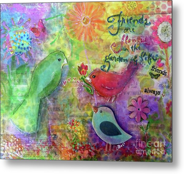 Friends Always Together Metal Print