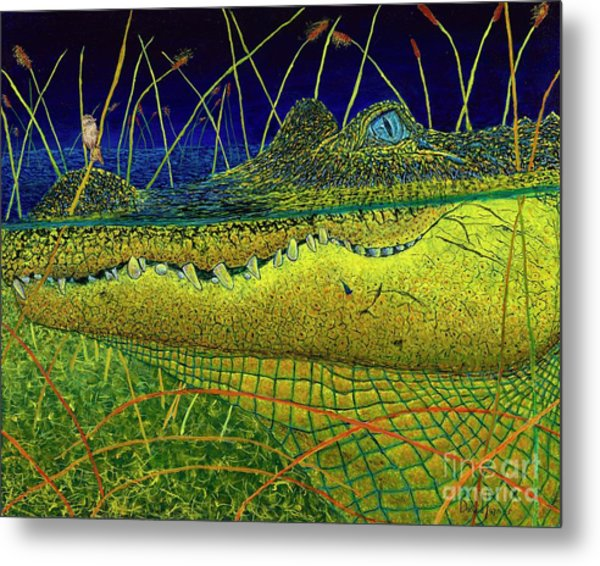 Swamp Gathering Metal Print