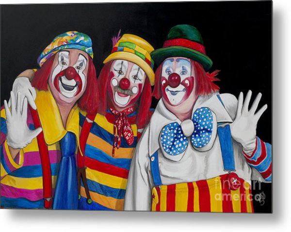 Friends Forever In Laughter  Metal Print