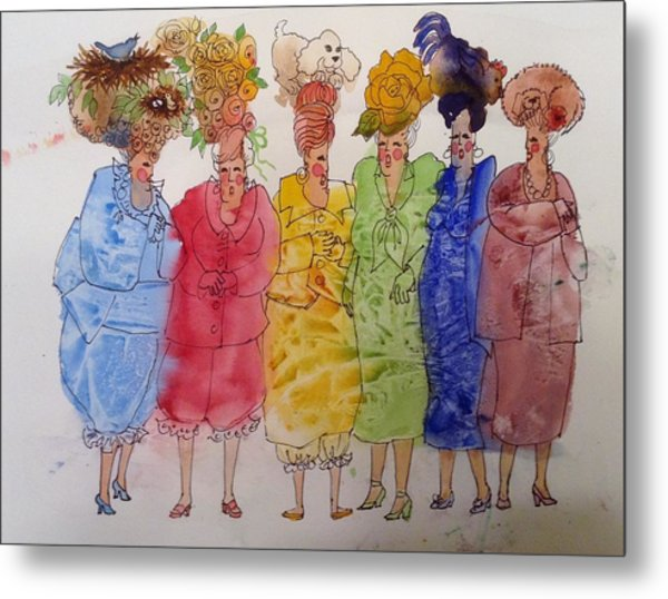 The Crazy Hat Society Metal Print