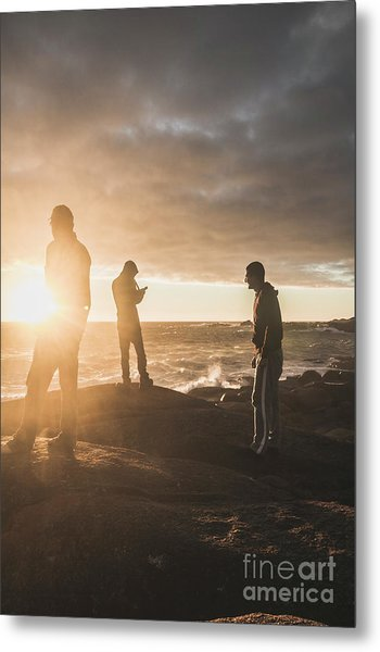Friends On Sunset Metal Print