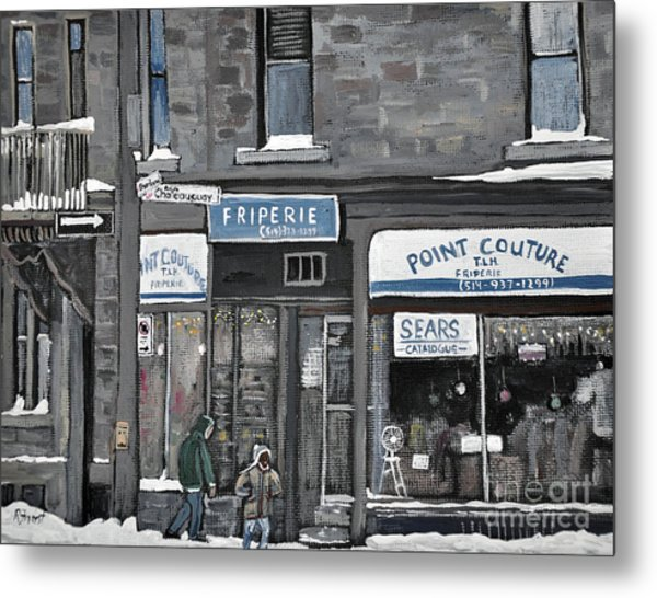 Friperie Point Couture Pte St. Charles Metal Print